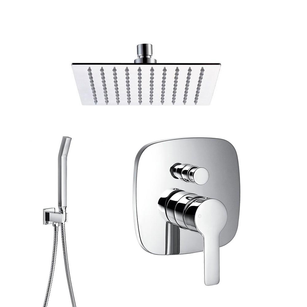 soho regendusche komplett set eckig duschsysteme komplett sets unterputz. Black Bedroom Furniture Sets. Home Design Ideas