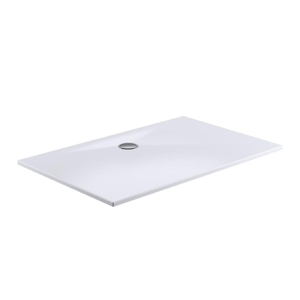 HSK Marmor Polymer Rechteck Duschwanne plan weiß Mineralguss
