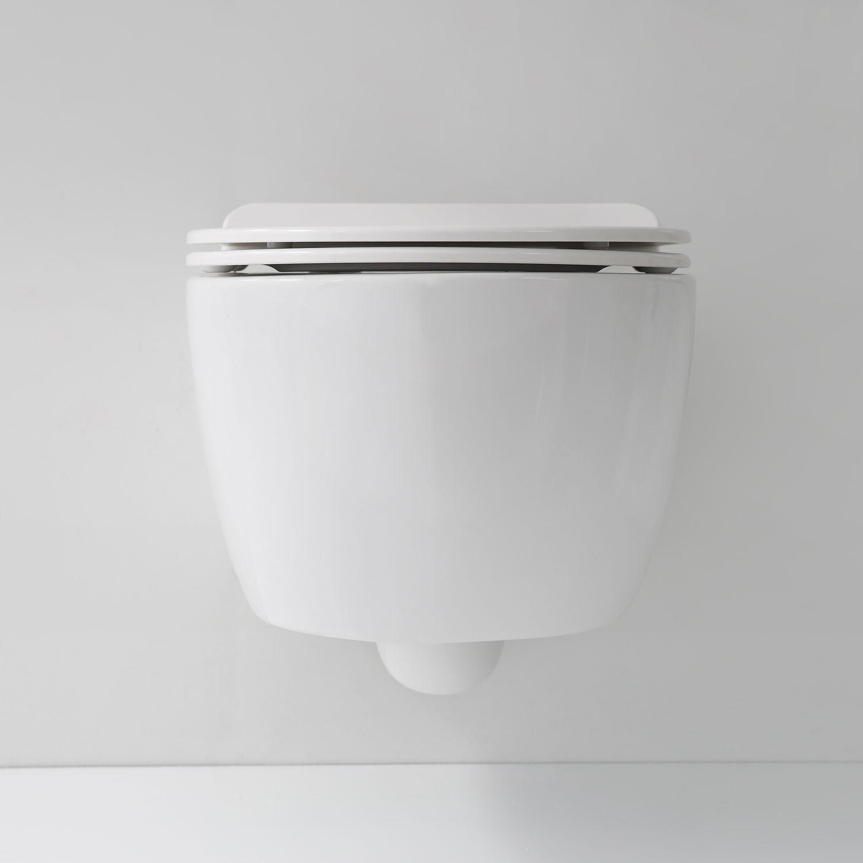 soho h nge wand wc ohne untersp lrand toilette brillant weiss mit ultra slim wc sitz badkeramik. Black Bedroom Furniture Sets. Home Design Ideas