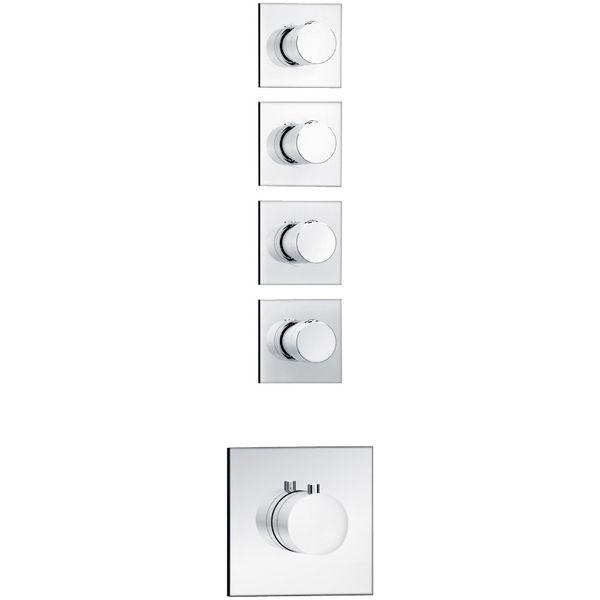 Soho 4 Wege Unterputz Thermostat Armatur