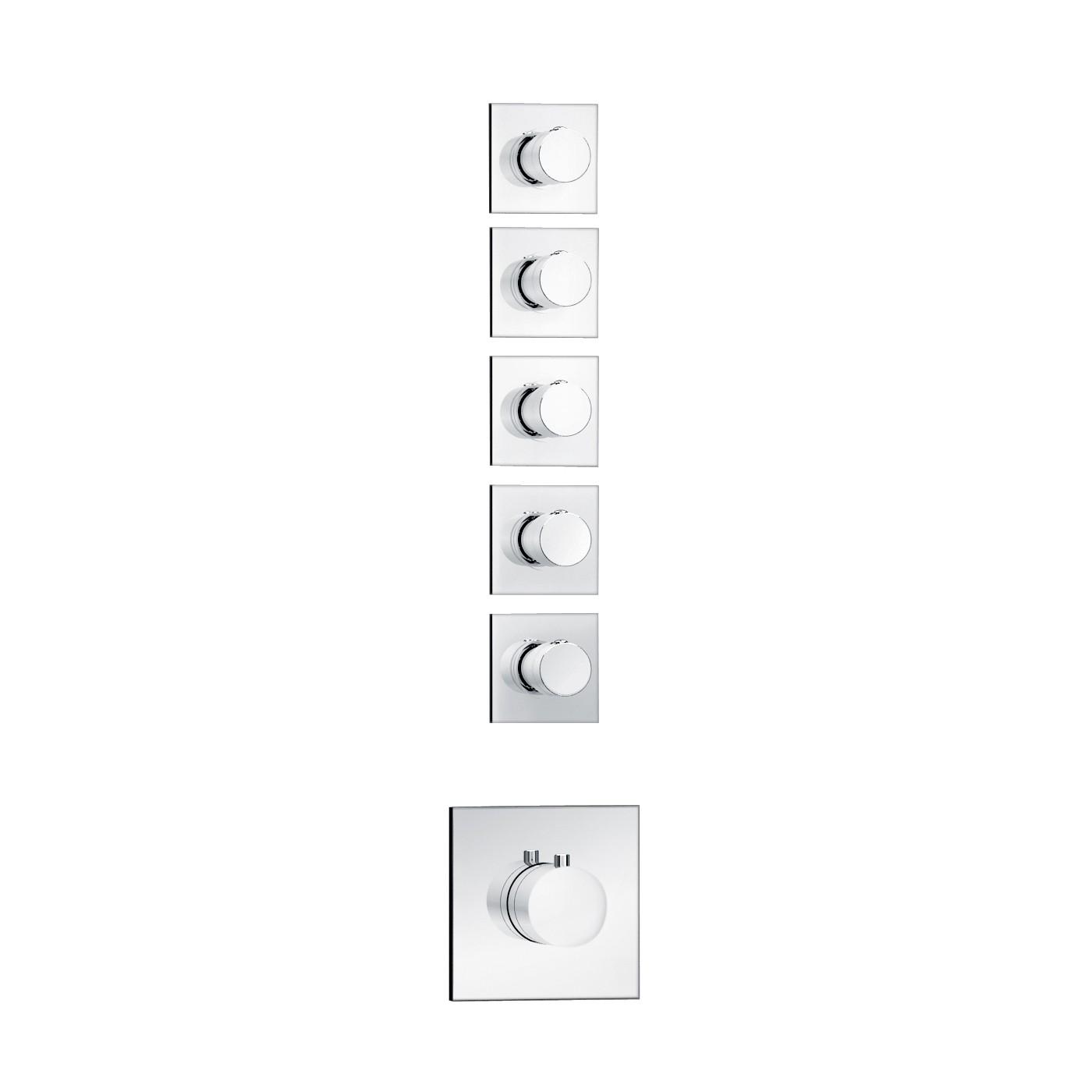 Soho 5 Wege Unterputz Thermostat Armatur Armaturen Dusche (Unterputz) | {Armaturen dusche unterputz 14}