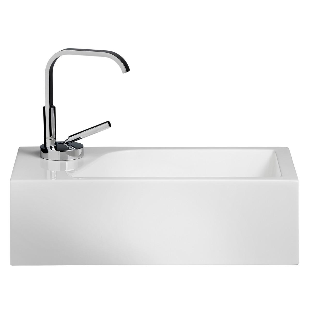 Gäste WC Waschbecken für Wandmontage Mineralguss
