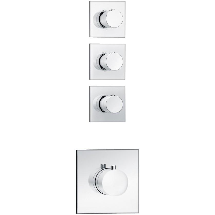 Soho 3 Wege Unterputz Thermostat Armatur