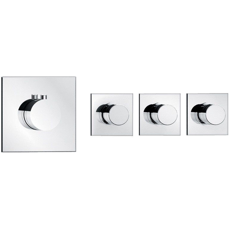 soho 3 wege unterputz thermostat armatur armaturen dusche unterputz. Black Bedroom Furniture Sets. Home Design Ideas