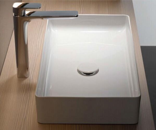Aufsatz Keramik Waschbecken Soho Brillant Weiß 60 cm