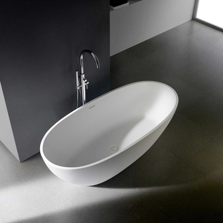 "Freistehende Badewanne ""Soho 2.0"" 170 cm - Mineralguss Badewannen | {Freistehende badewanne mineralguss 75}"
