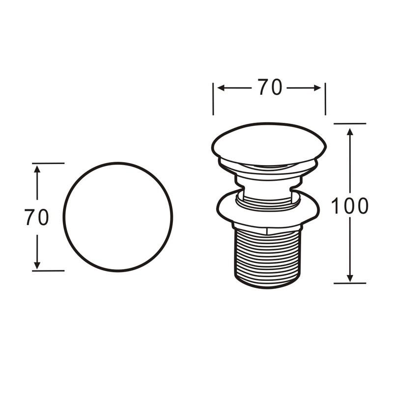 Abfluss Waschtisch Ablauf Pop Up Ventil - Weiße Abdeckung