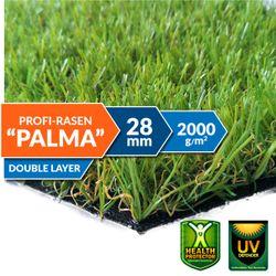 Kunstrasen Palma - 28 mm Florhöhe - Echtrasenoptik