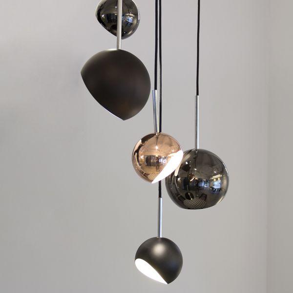 Moderne Retro Pendelleuchte Kugelform Chrom | LED 6-10 Watt | 2 Größen