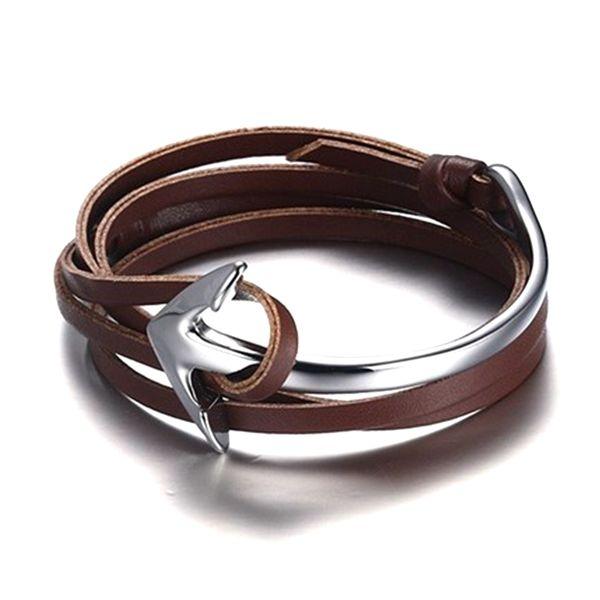 Ankerarmband Sleeve aus Nappaleder Braun