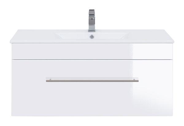 """Badmöbelset  """"Basic"""" 100cm, mit Waschtisch, Unterschrank"""