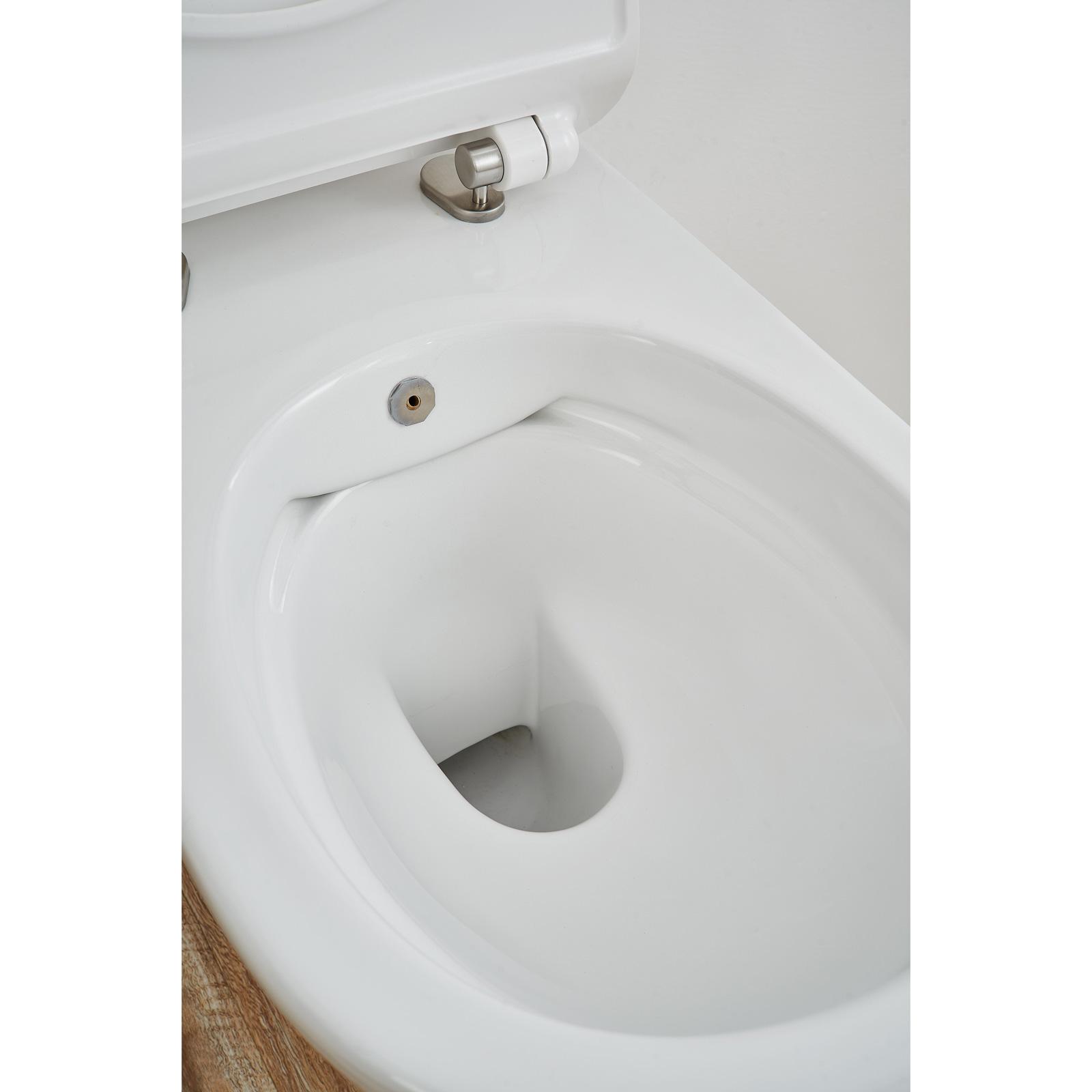 Spülrandloses Dusch-WC SOHO 2.0 mit abnehmbarem Softclose Sitz Taharet