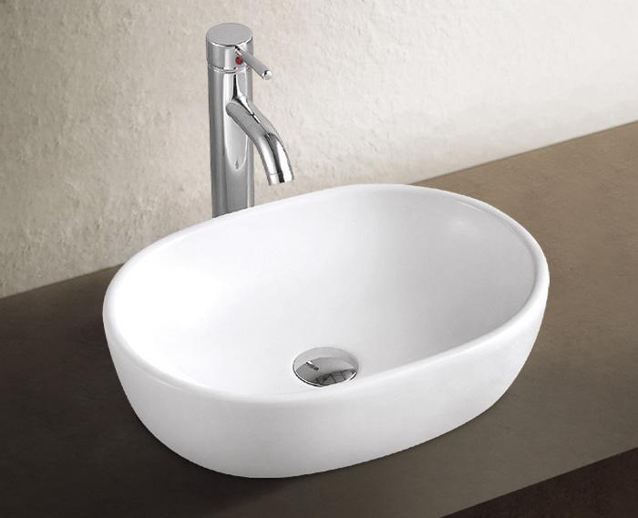 Aufsatz Keramik Waschbecken Marina 2.0 Weiß 48 cm