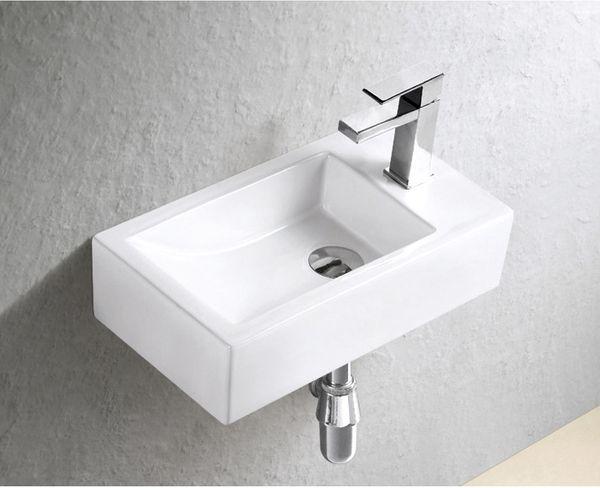 Gäste WC Waschbecken für Wandmontage Keramik Handwaschbecken
