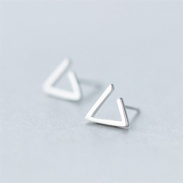 Open Triangle Ohrstecker aus 925 Sterling Silber