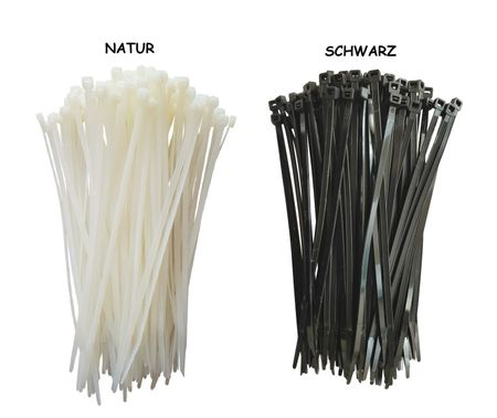 100 x Cable tie 4,8x370mms black or natural – image 1