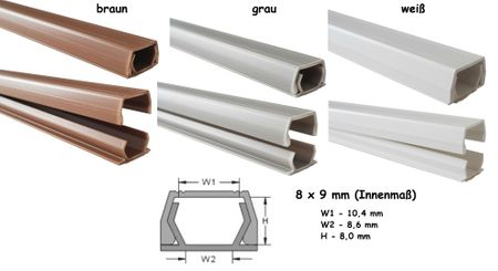 Wire duct 8x9mms (inside dimension) self-adhesive (connectors available) – image 1