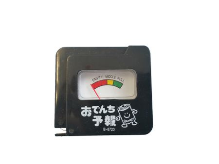 Battery tester for AAA, AA, C, D, 9V batteries