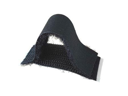 5 x Klett Halter 20x50mm schwarz selbstklebend – Bild 1