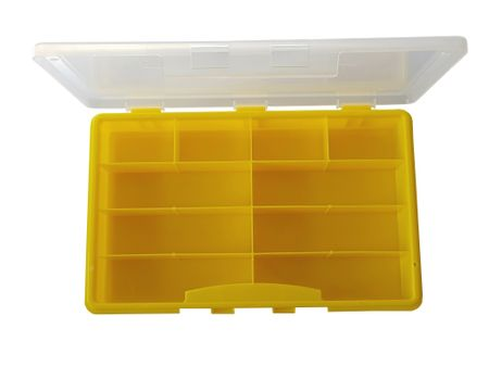 Sorting Box / Assortment Box yellow 10 compartments 275x180x41mms – image 1