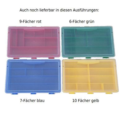Sorting Box / Assortment Box green 6 compartments 75x180x41mms – image 3