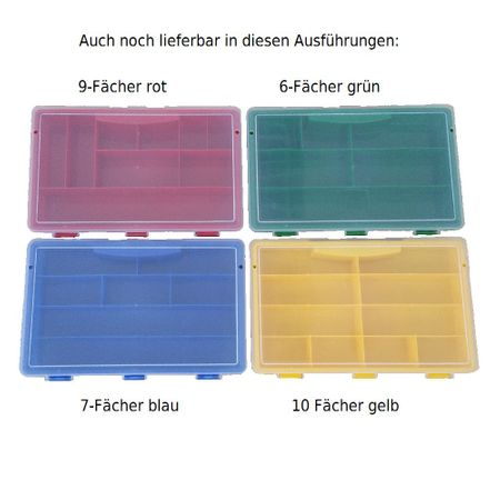 Sorting Box / Assortment Box green 6 compartments 75x180x41mms – image 4