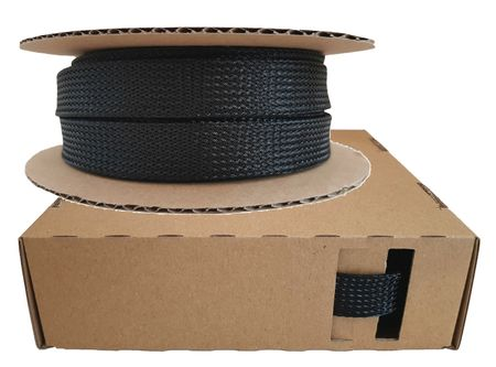 Braided Expandable Sleeving Dispenser 12-25 mms / 5 meters black Minibox
