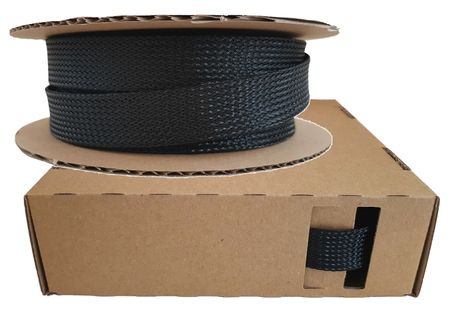 Braided Expandable Sleeving Dispenser 16-32 mms / 5 meters black Minibox