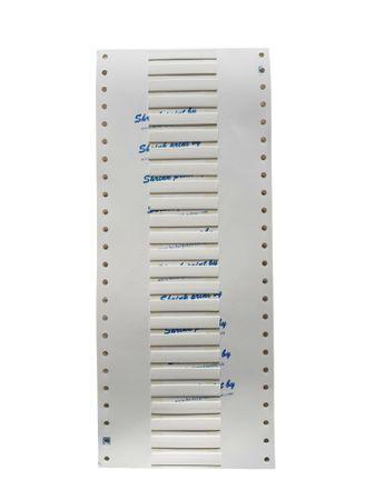 4,8mm Ø / 100 x 50mm / weiß (3:1) Schrumpfschlauch Markierer – Bild 1