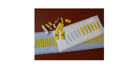 "Marker for heat-shrinkable tubings ""shrink-print"" size: 4,8mms 100 pieces white – image 2"