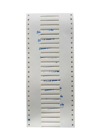 "Marker for heat-shrinkable tubings ""shrink-print"" size: 6mms 63 pieces white"