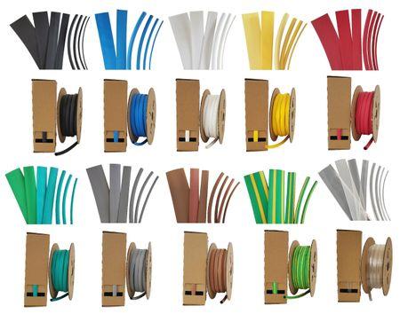 Minibox 5m Heat-shrinkable Tubing 9,5mms (2:1) Dispenser various colours – image 1