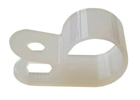 50 x Cable clip 9,5mms natural polyamide 6.6 – image 1