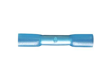 10 x Crimpverbinder 1,5 - 2,5mm² (blau) Stoßverbinder m. Schrumpfschlauch wasserdicht