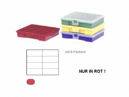 Sorting Box / Assortment Box red 8 compartments 180x150x36 mms – image 4