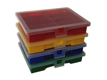 Sorting Box / Assortment Box red 8 compartments 180x150x36 mms – image 3