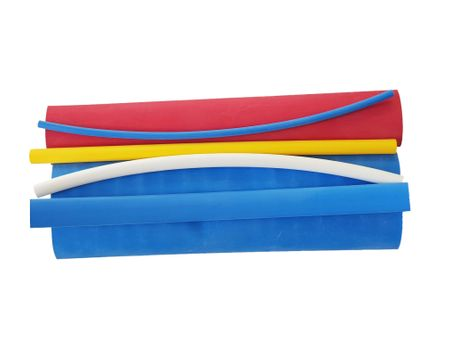 Heat-shrinkable  tubing set with glue, 6-part – image 1