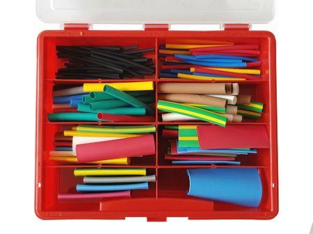 120 tlg farbiges Schrumpfschlauch Sortiment (2:1) in stabiler Box
