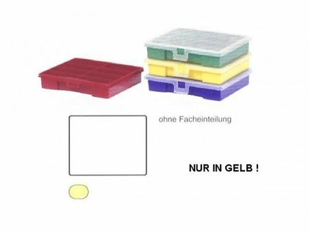 Sorting Box / Assortment Box yellow 1 compartment 180x150x36mms – image 1