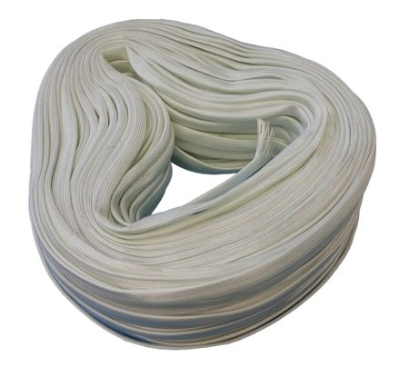 200m Glas Fibre Braided Sleeving 4,0mms natural white DIN40620 – image 1