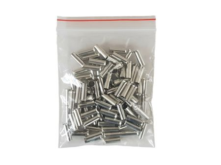 100 x Cored end terminal not insulated 6,0qmms length:  12mms – image 1
