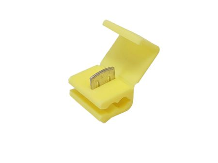 5 x Mid way wire connector (automotive type) 4,0-6,0 yellow – image 1