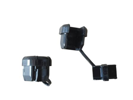 Cable housing strain relief bushing Nylon black 10-part