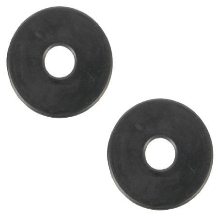 Trensen Zubehör Gebiss-Gummischeiben schwarz (2 Stück) Pony oder Cob/Full
