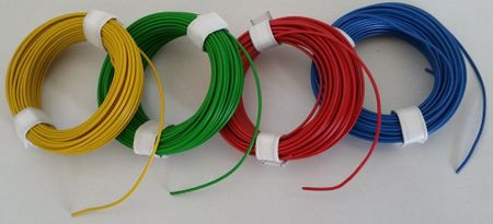 Coloured Copper wire with plastic insulation, single-wire, 10 meters – image 1