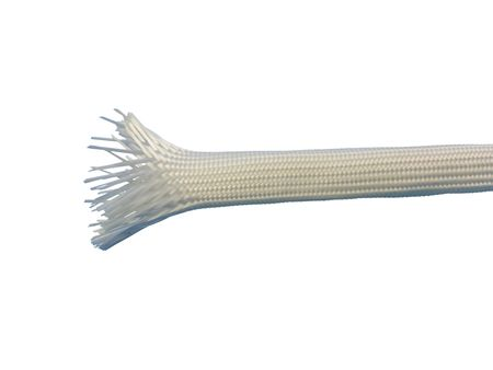 2m Glas Fibre Braided Sleeving 6,0mms natural white DIN40620