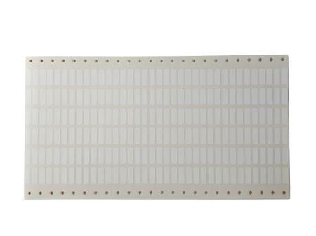 216 x Polyester Etiketten 19x6mm weiß