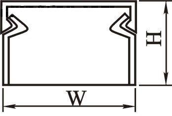 kabelkanal 20x30mm au enma 90cm selbstklebend 2 teilig wei kabel montage kabelkanal. Black Bedroom Furniture Sets. Home Design Ideas