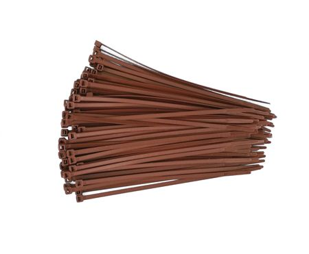 100 x Cable Tie 4,7x380mms brown polypropylene