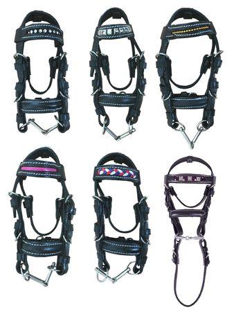 Anhänger Mini Trense Länge ca. 14 cm Miniaturtrense Leder Auswahl – Bild 1